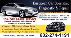 EUROPEAN CAR SPECIALIST DIAGNOSTIC & REPAIR