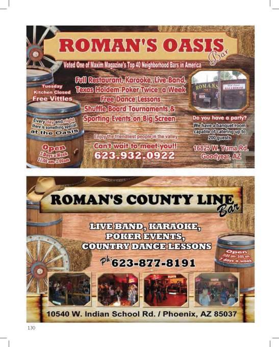 ROMAN'S OASIS & COUNTY LINE BARS