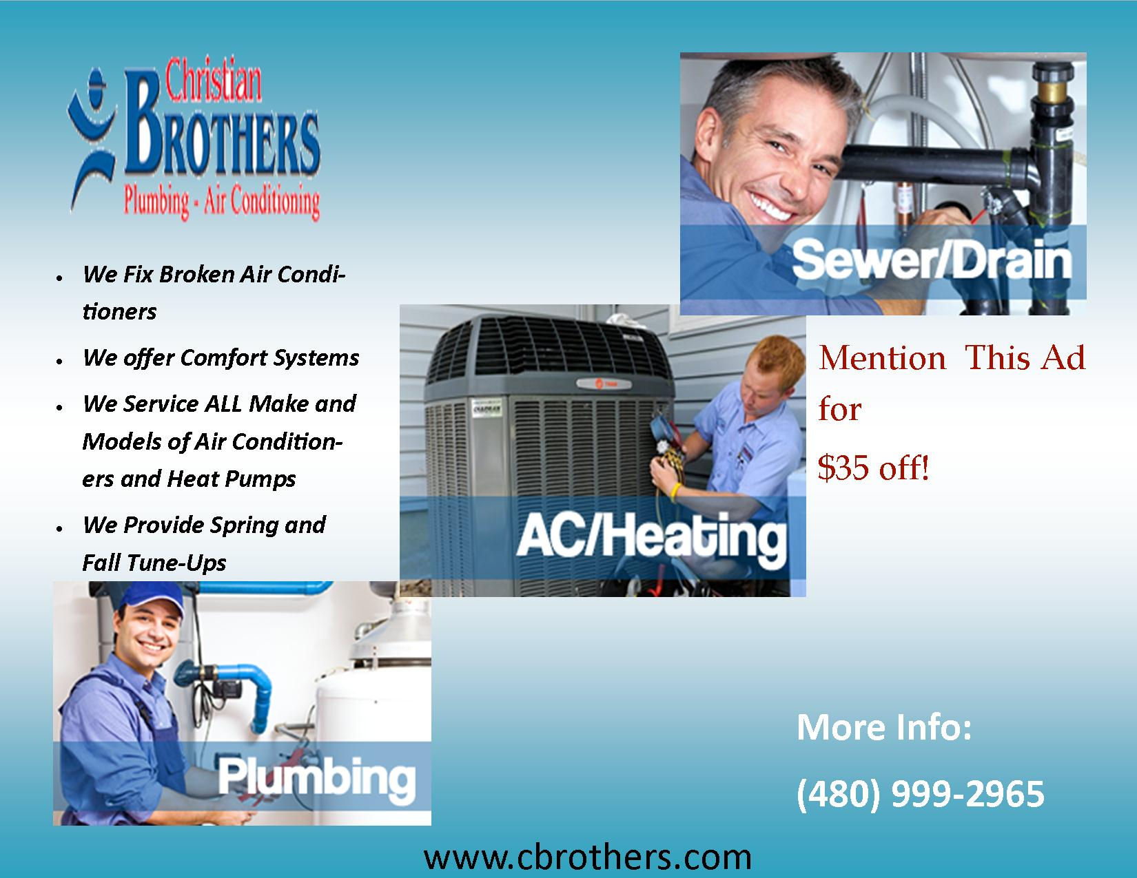 Christian Brothers Plumbing Amp Air Conditioning