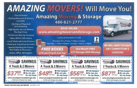 AMAZING MOVERS & STORAGE