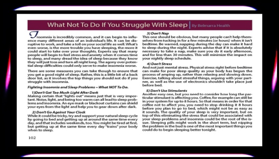 WHAT NOT TO DO IF YOU STRUGGLE WITH SLEEP BY BELMERRA HEALTH