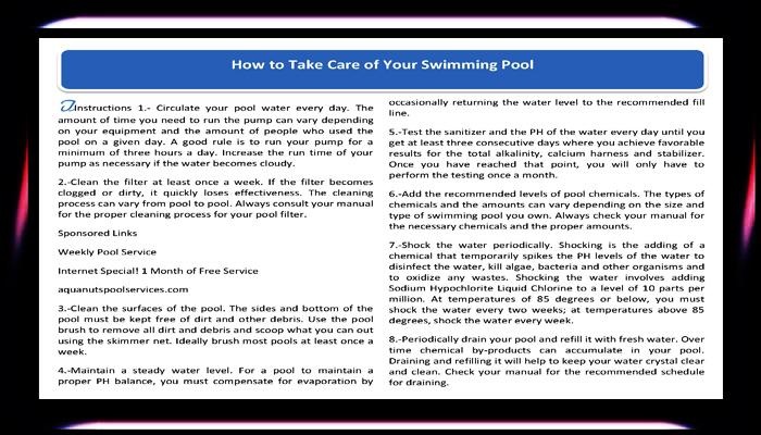The carpet broker design center azseasonsmagazineonline az seasons magazine for How to take care of your swimming pool