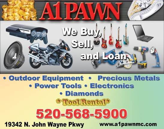 A1PAWN #a1pawn #KalvinArailias #AzSeasonsMag #AzSeasonsMagazinesOnline #Online #arizona #az #pawn #tool #rental #buy #sell #trade #loan #outdoor #equipment #precious #metal #power #electronic #diamond #jewelry #tv #radio #ipod #ipad #store #mall #online #maricopa #casagrande #queencreek #coolidge #eloy #chandler