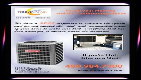 FOUNTAIN AIR #AirConditioning #Heating #SwampCooler #WaterPump #Fix #Repair (480) 984-7300 www.fountainair.com @AZSeasonsMag @AzSeasons