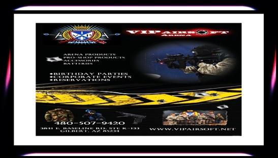 #VIP #AIRSOFT #ARENA (480) 507-9420 vipairsoft.com #gilbert #arizona #paintball #media #tv #podcast @AZSeasonsMag @AzSeasons