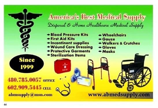 AMERICA'S BEST MEDICAL SUPPLY (602) 909-5445 #FirstAidKit #SurvivalGear #Emergency #Wheelchair #Crutches #Masks #Gloves @AzSeasonsMag @AzSeasons azseasonsmagazines.com