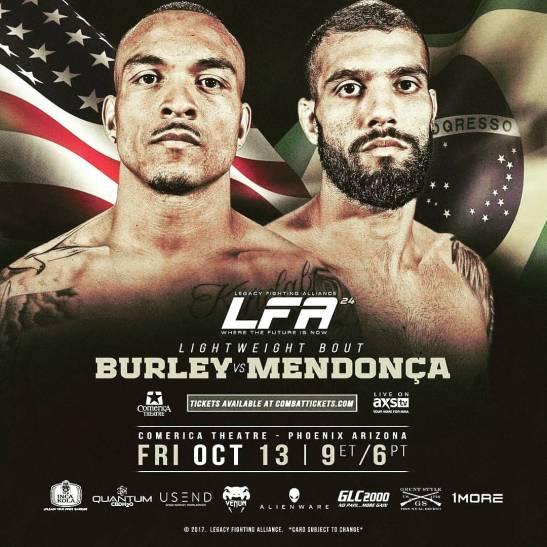 "#LFA LEGACY FIGHTING ALLIANCELarue ""Cannibal"" Burley Vs. ""Mayconmendoca"" #MMA #Fighting #Championship #Fight @AzSeasonsMag @AzSeasons azseasonsmagazines.com"