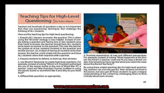 ​TEACHING TIPS FOR HIGH LEVEL QUESTIONING | By Adam Waxler #schools #teacher #counselor #mentor #coach #parenting #kids #education @AzSeasonsMag @AzSeasons #ad