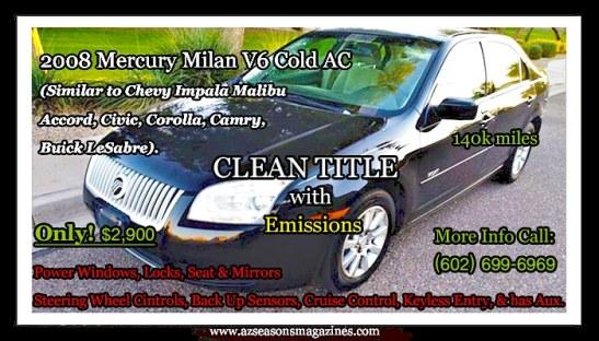 CARS FOR SALE ARIZONA #glendaleaz #chandleraz #gilbertaz #phoenixaz #mesaaz #car #truck #suv #cleantitle #buy #carsarizona #carshow  #carshows #carforsale #dealership #mercury #mercurymilan #carsforsalearizona #carsforsaleaz #mercury #mecurymilazarizona #mercurymilanaz #kalvinarailias #media #tv #pr #az #agency